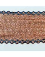 Elastisches Spitzenband, rehbraun-königsblau
