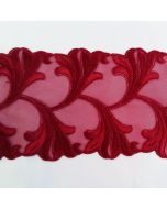 Spitzenband, weinrot, 10cm breit