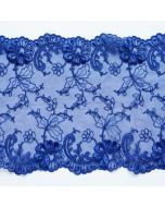Elastische Tüllstickerei - Spitze in königsblau - 17.5cm breit