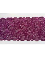 Elastisches Spitzenband, 16cm breit, lila