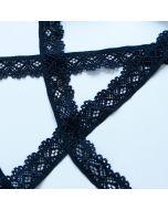 Budgetpackung Spitzenband, schwarz - 2cm breit, 5m