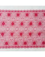Spitzenband, 22.5 cm breit, fuchsia