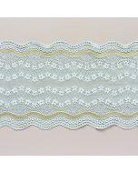 Elastische Spitze, Aquamarine, 16cm breit