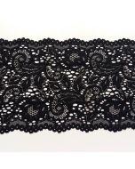 Elastische Spitze, schwarz, 21cm breit