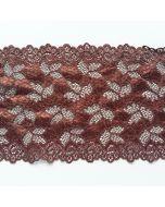 Elastische Spitze, rostbraun, 16cm breit