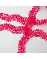 15mm breite, elastische Spitze - schmales Spitzenband in einer kräftigen Himbeerrot für Kinder- und Damenbekleidung und Unterwäsche.