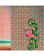 Bunter Jersey Stoff Panel mit Flamingomuster