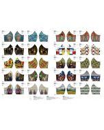Baumwollstoff Panel fürs Masken-Nähen mit Kunstwerk-Motiven