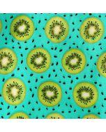 Jersey Stoff mit Pirat-Affe und Pirat-Bär Motiven in grünpetrol für lässige Kinderklamotten
