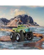 Jersey Stoff Panel 'Monster Truck', 75x150cm