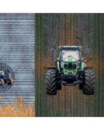 Jersey Stoff Panel mit Traktor - 75x150cm