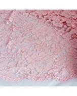 Spitze, nicht elastisch, rosa