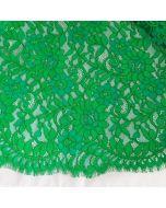 Spitze, nicht elastisch, smaragdgrün