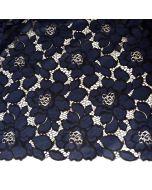 Nicht elastische Spitze in dunkelblau-schwarz für Kleider - Röcke oder Deko.