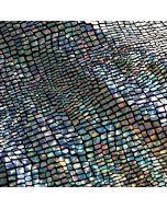 Stark glitzernder - glänzender Lycra Stoff - mit Hologrammfolie beschichtet