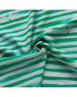 Gestreifter Lycra - Badelycra Stoff in weiss-mint