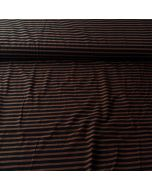Badelycra / Lycra Stoff in braun-schwarz gestreift