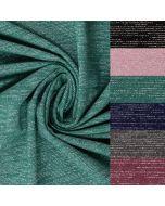 Glitzernder Sweat Stoff mit Lurex-Fäden für warme Pullis, Hoodies oder Sweat-Jacken - warme, flauschige Qualität.