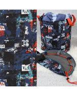 Softshell Stoff für Kinder mit bunten Rennauto-Motiven - perfekt für Softshell-Jacken, Outdoor-Decken, Babynestli, Taschen.