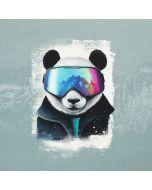 French Terry Stoff Panel 'Snow Panda' von Thorsten Berger - 80x155cm