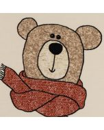 French Terry Stoff 'Sweet Bears' in ecru mit Bärchenmuster