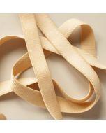Trägergummiband fürs BH-Nähen - das Trägerband ist hellbeige, 12mm breit.