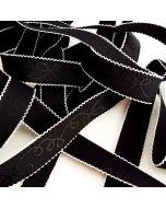 Trägergummi/Trägerband in schwarz-weiss - 21mm breit, 4m