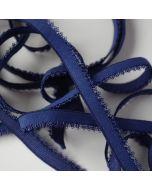 8mm breiter Unterbrustgummi für BHs in dunkelblau - für kleine BH-Körbchen geeignet.
