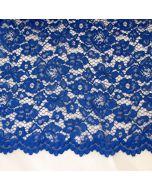 Elastische Spitze in königsblau - 145cm breite Meterware für festliche Kleider, Blusen oder Deko.