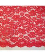 Elastische Spitze in Lachs - 145cm breite Meterware für festliche Kleider, Blusen oder Deko.