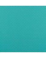 Getupfter Baumwolle Popeline Stoff in aquamarine (meeresgrün) mit weissen Pünktchen