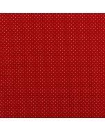 Getupfter Baumwolle Popeline Stoff in rot mit weissen Pünktchen