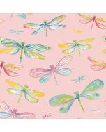 Softshell Stoff mit Libellenmotiv