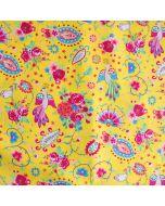 Sommerliche Popeline Webware aus 100% Baumwolle mit Pfaumuster - der Stoff it perfekt für Sommerbekleidung und Deko