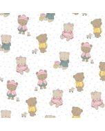 Baumwolle Popeline Stoff mit Bärchenmotiven - der Stoff ist 150 cm breit - aus 100% Baumwolle.
