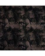 Jersey Stoff in dunklen Grautönen mit Dinosauriermuster