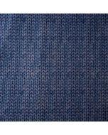 Flauschig warmer Sweat Stoff in jeansblau mit Strickmuster - der Stoff ist perfekt für Jacken, Hoodies, Pullover oder Wohlfühlhosen.