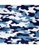 Baumwollstoff mit Tarnanzugmuster - Camouflage-Muster für Bekleidung und Deko.