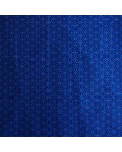 Glatter, schnell trocknender, mittelschwerer Lycra Stoff in dunkelblau mit feiner Musterung in blau - für Badeanzüge, Bikinis und Tankinis.
