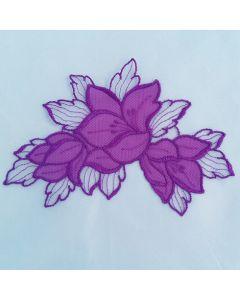 Spitzenapplikation, lila, 3 Stk.