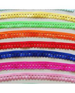 Elastische Spitze - Gummiband mit Spitzenkante in 30 Farben
