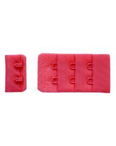 Verschluss fürs BH-Nähen in kräftigem lachs - der Verschluss ist ideal für kleine bis mittelgrosse BH-Körbchen.