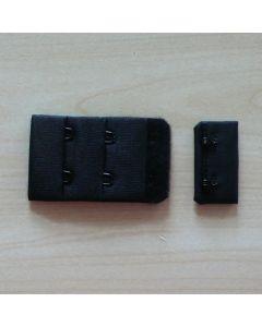 BH-Verschluss, 3.3cm breit, schwarz