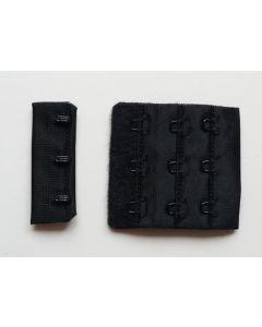 BH-Verschluss, 5cm breit, schwarz