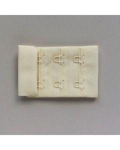 BH-Verschluss, 4cm breit, ecru