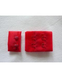 BH-Verschluss, 3 cm breit, rot