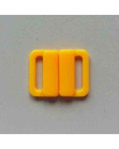 Bikiniverschluss, sonnengelb; Durchlass: 13mm