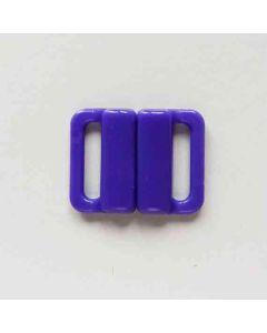 Bikiniverschluss, violett; Durchlass: 13mm