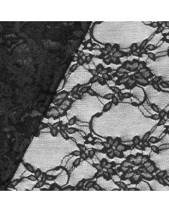 Bielastische Mesh-Spitze 'Alexandra' in schwarz