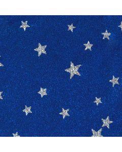 Lycra mit Sternchen, blau